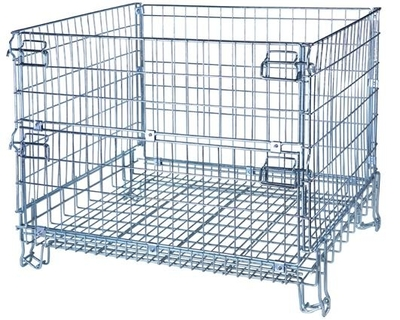 Euro-Style Wire Mesh Container